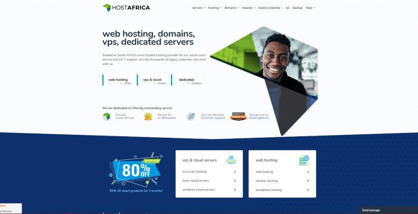 HOSTAFRICA web hosting services