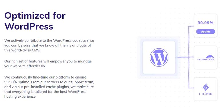 Description of Hostinger's managed WordPress optimizations
