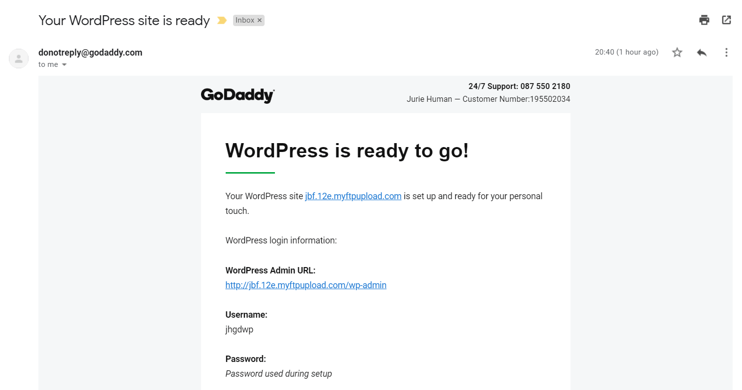 How to Connect a Domain and Install WordPress on GoDaddy-image11