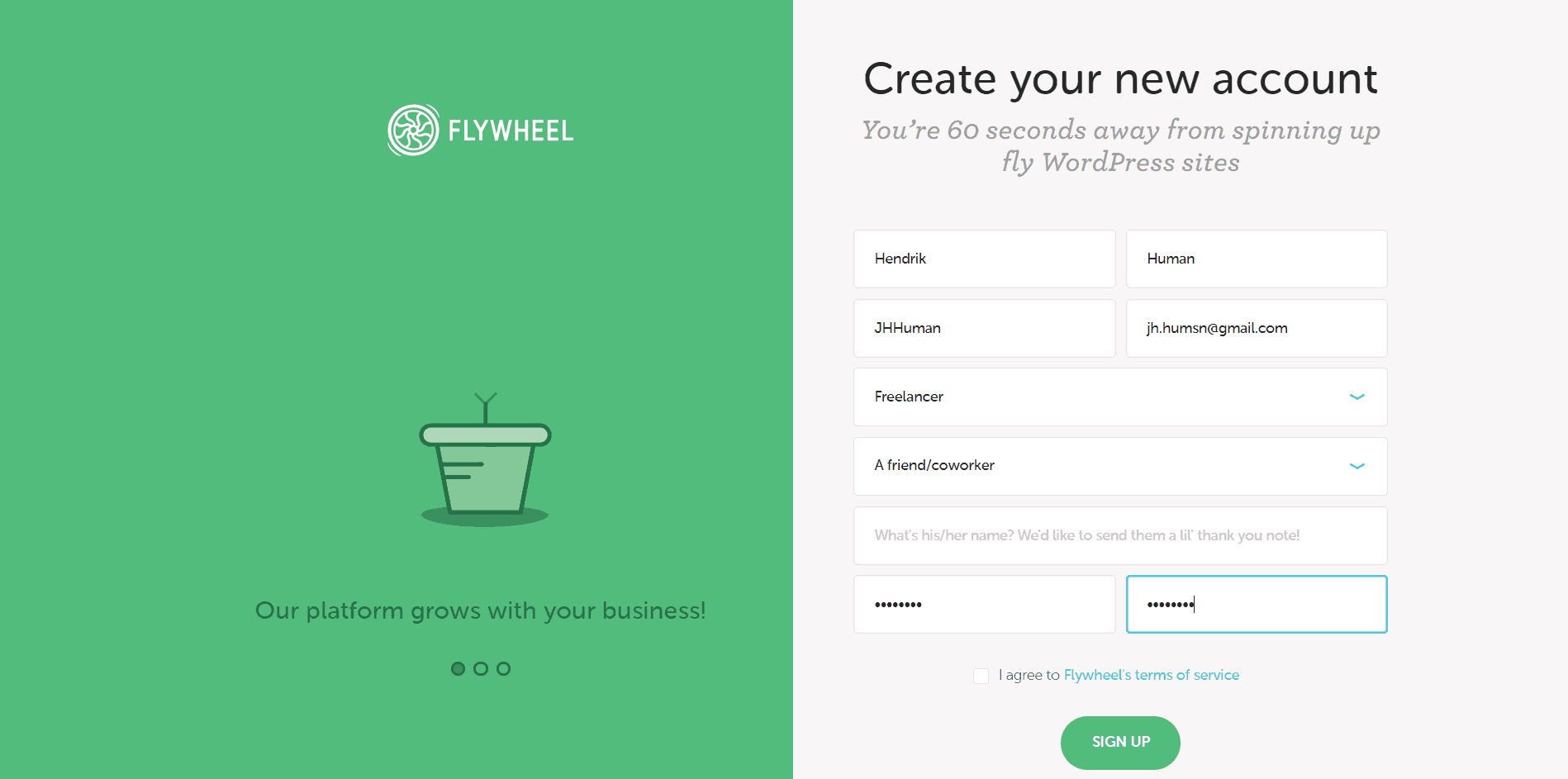 How-to-Create-a-New-Account-with-Flywheel-image1
