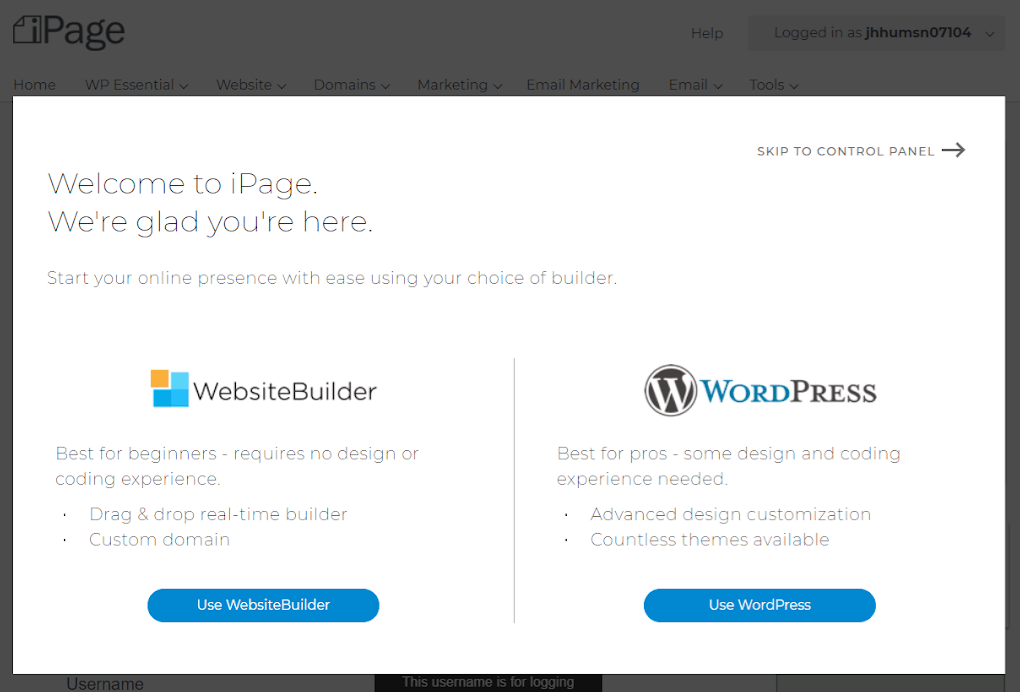 How to Create a New Account with iPage-image5