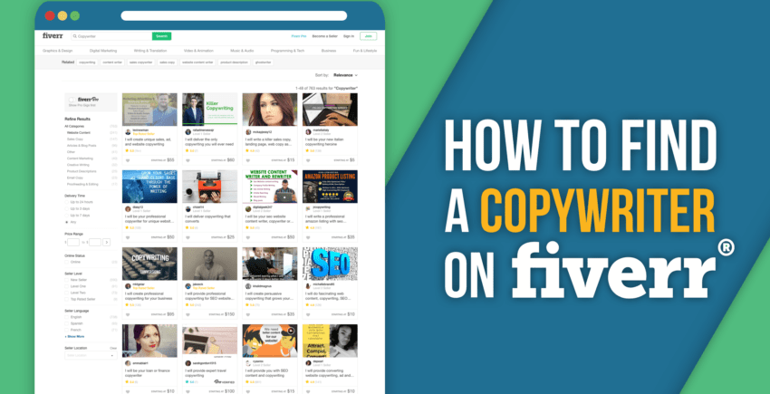 Find an Amazing Copywriter on Fiverr (10 STEPS for 2019)