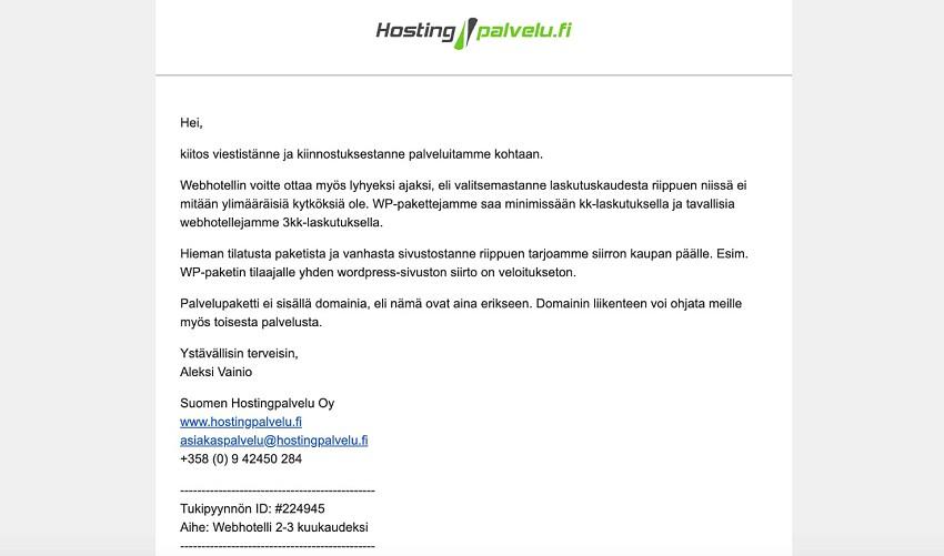 Suomen Hostingpalvelu customer care optimage2
