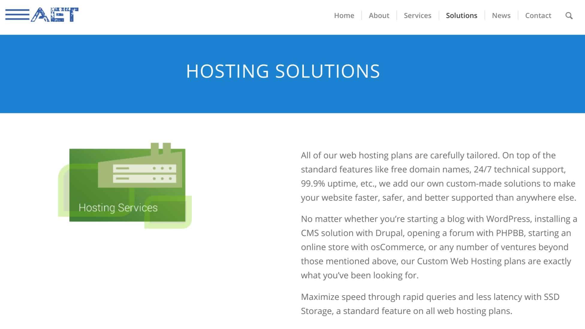 aet hosting
