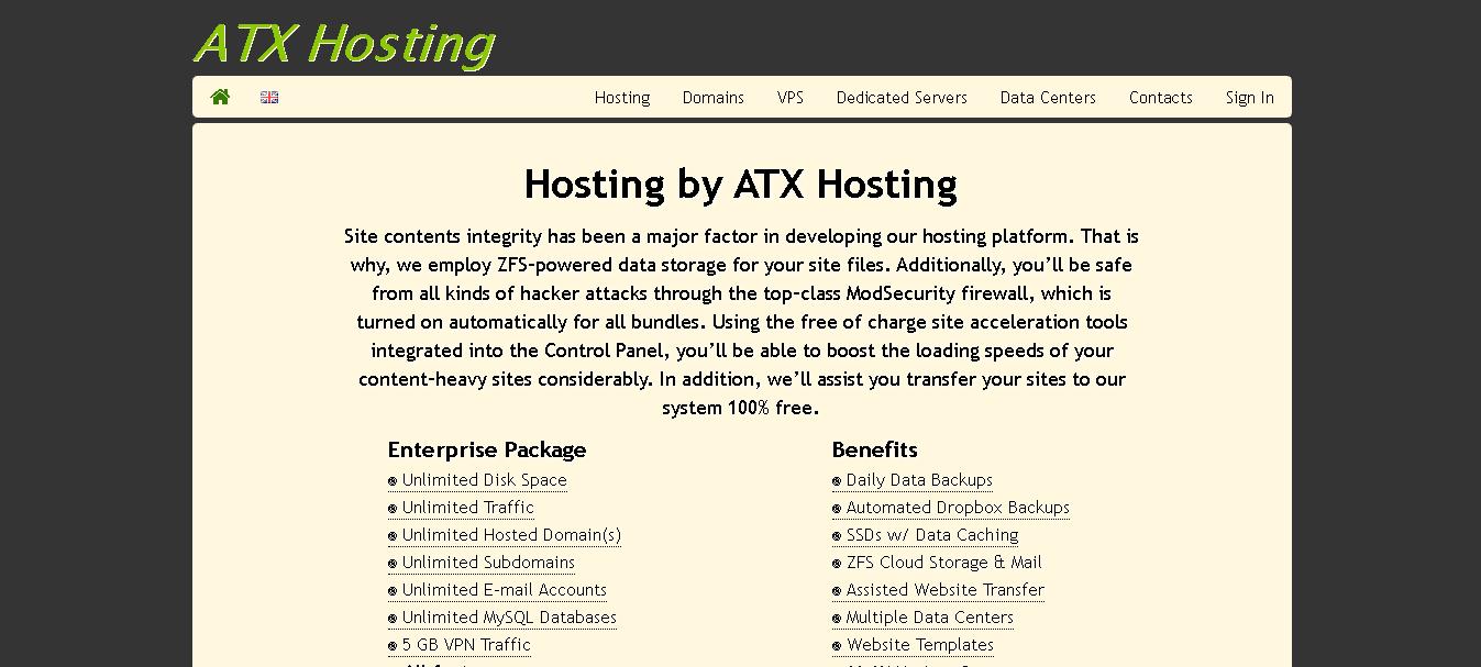 atx hosting main