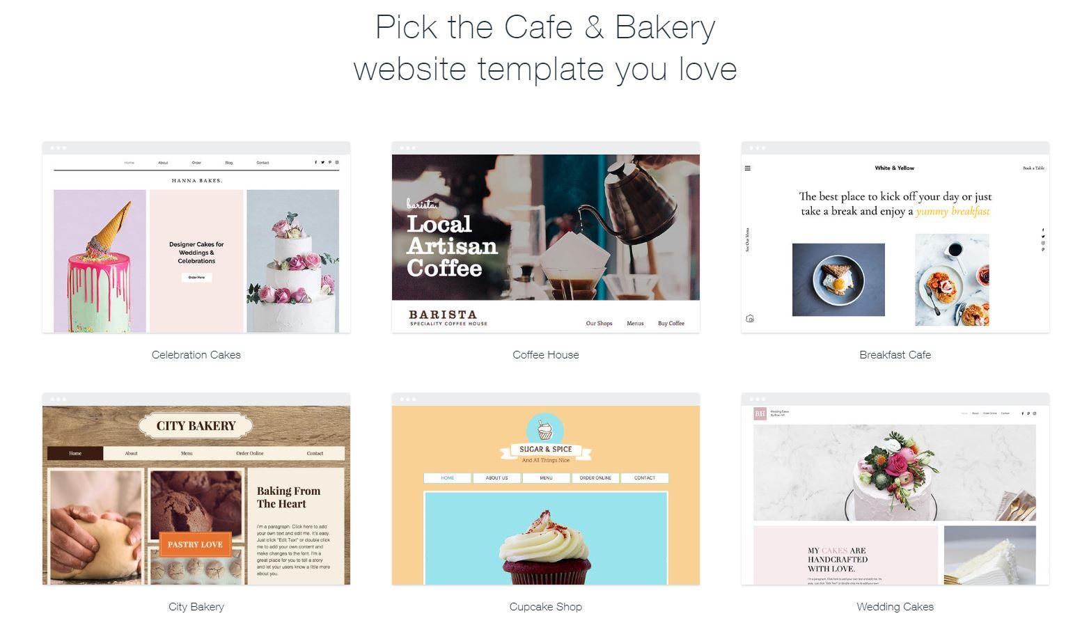 Wix Bakery Website Tenplates