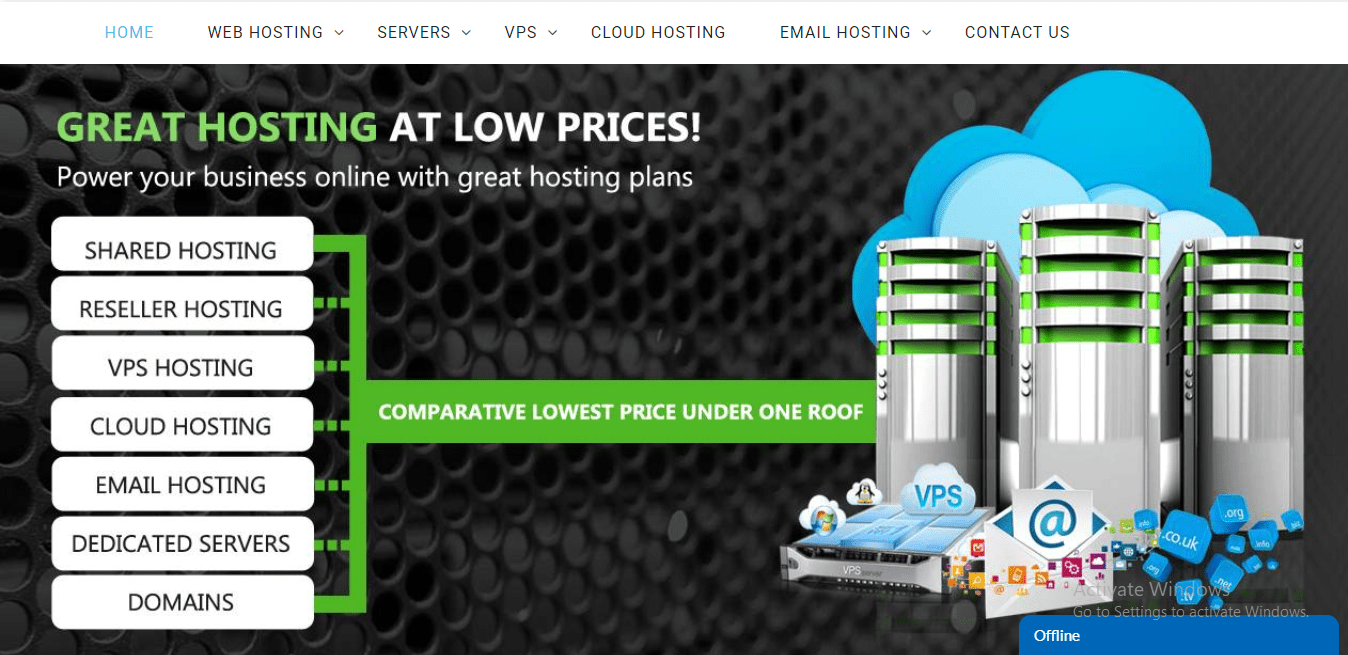 Web Hosting Bingo features