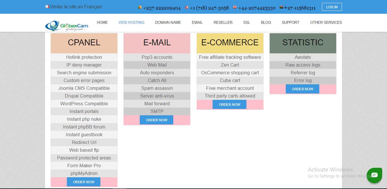 GlobexCamHost features