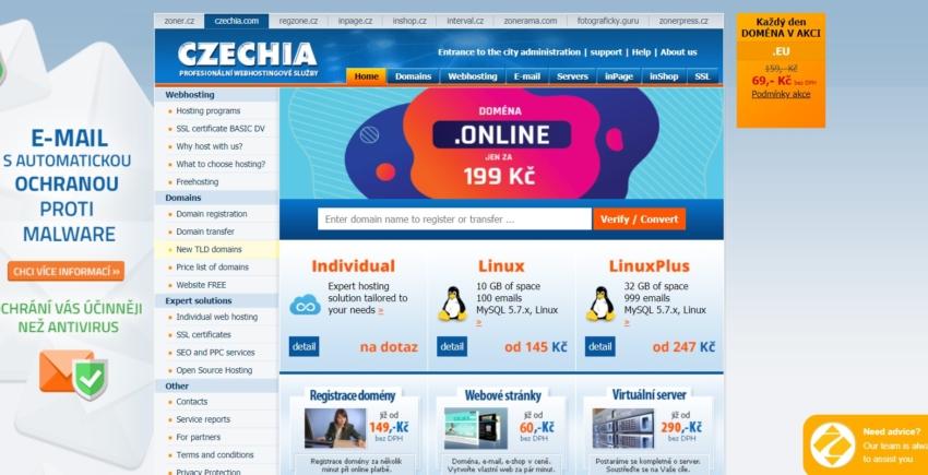 czechia přehled českých poskytovalů webhostingů