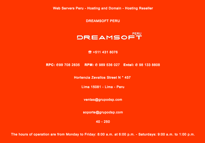 dreamsoft-peru-support