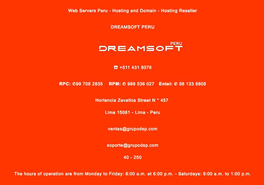 dreamsoft-peru-support