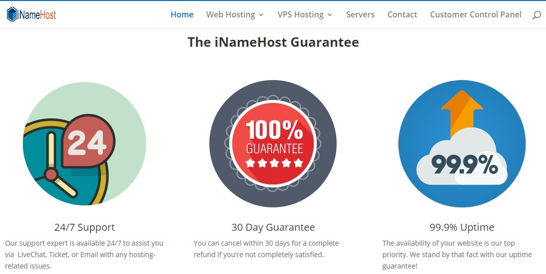 iNameHost pricing