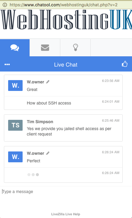 WebHostingUK support