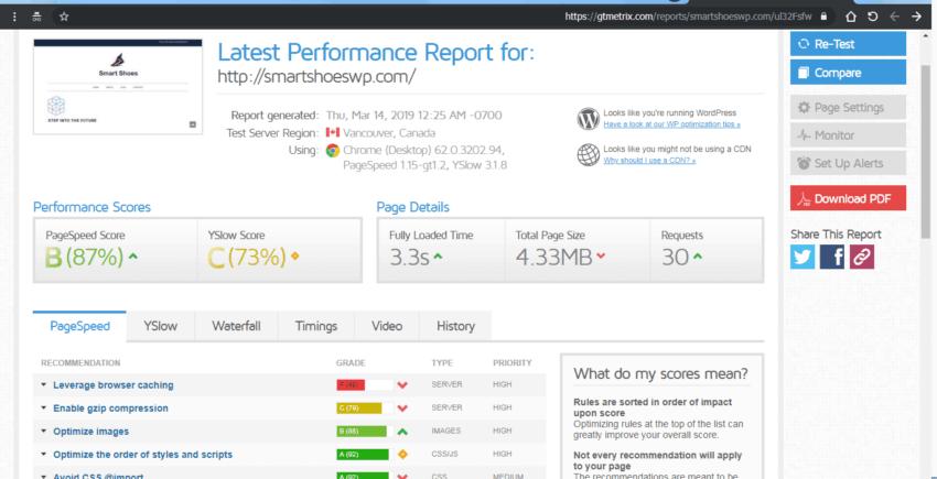 XML_SITEMAPS plugin speed test