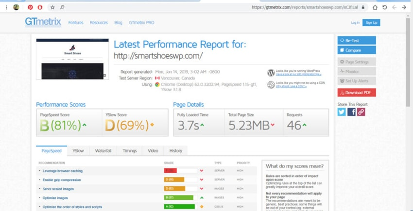Elementor page builder speed test