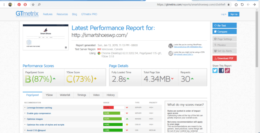 All in 1 SEO speed test