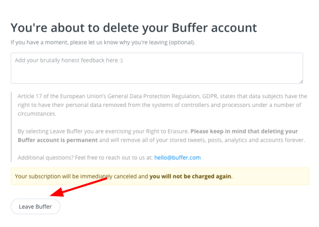 How to Cancel Your Account with Buffer and Get Refunded-image3