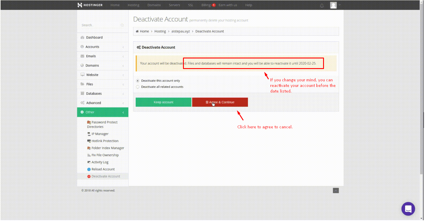 How to Cancel Your Account with Hostinger and Get a Refund-image2