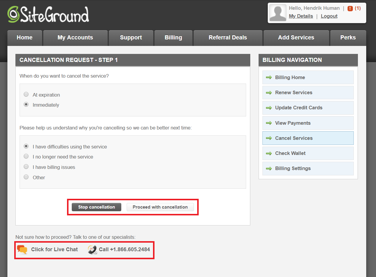 How to Cancel Your Account with SiteGround and Get a Refund-image4
