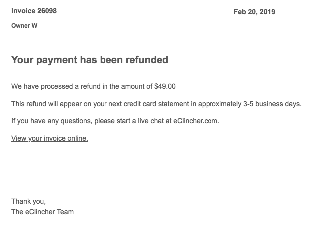 How to Cancel Your Account with eClincher and Get a Refund-image6