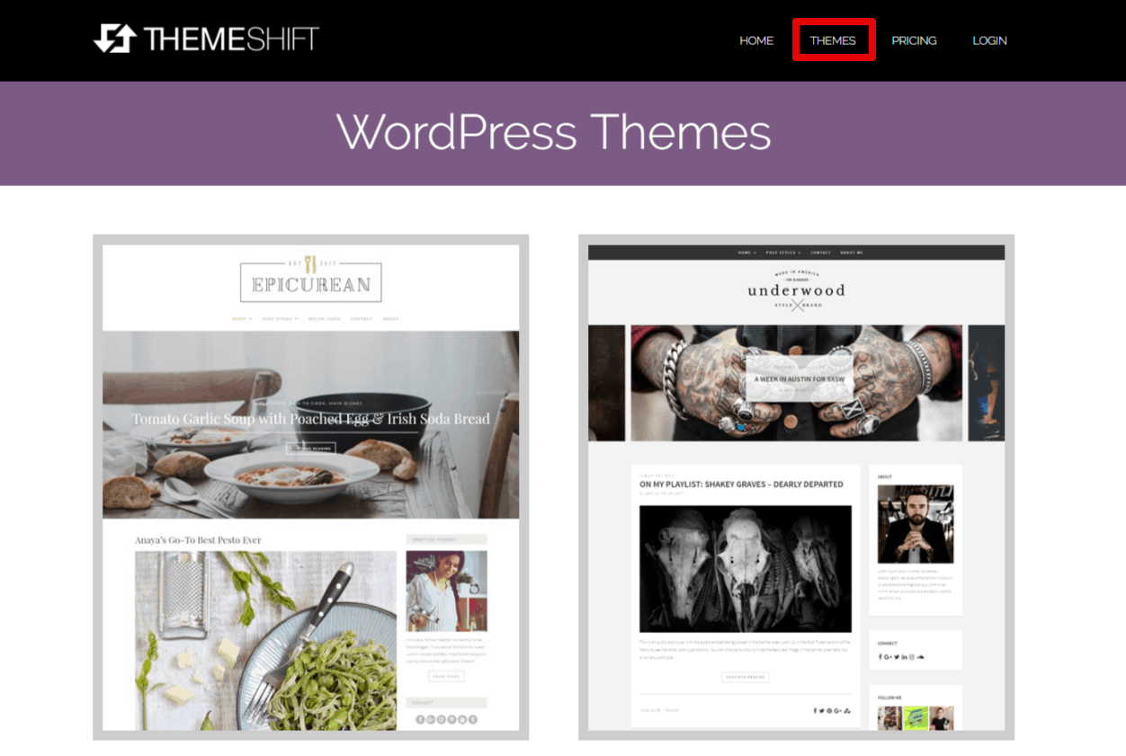 THEMESHIFT - WordPress Themes Vendor Review [HQ DESIGNS]-image1