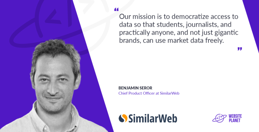Benjamin Seror, Chied product officer at similarWeb