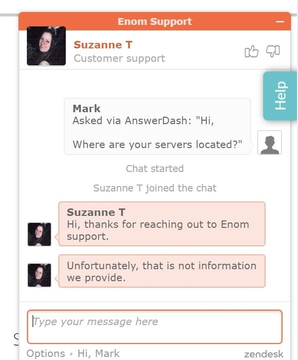 Enom Customer Support