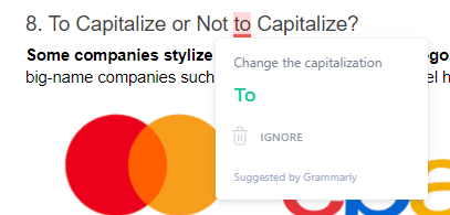 Grammarly error