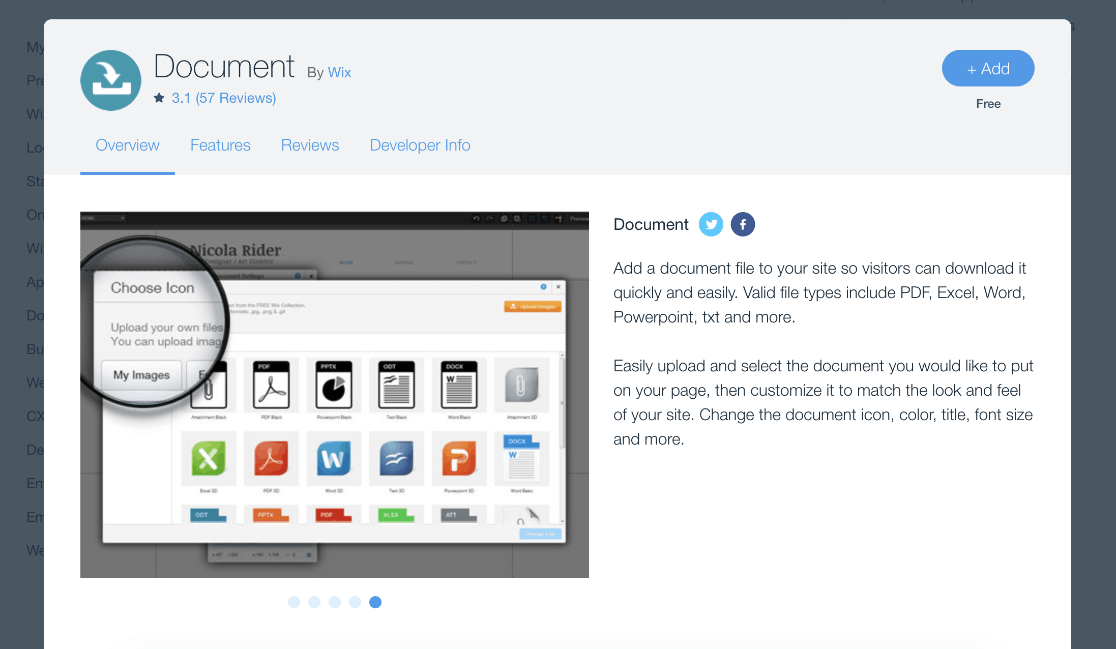 Wix Document app