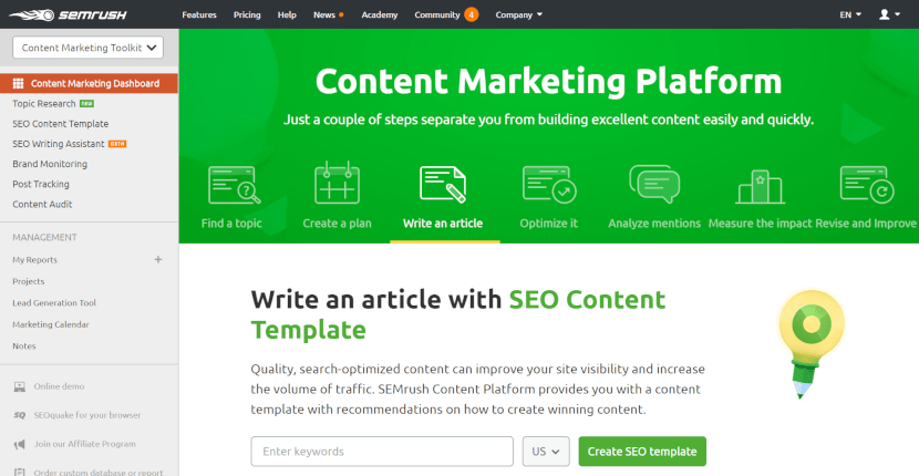 Content Marketers Guide to SEMrush-overview10