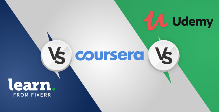 Verkkokurssien vertailu – Fiverr Learn vs Udemy vs Coursera [2019]