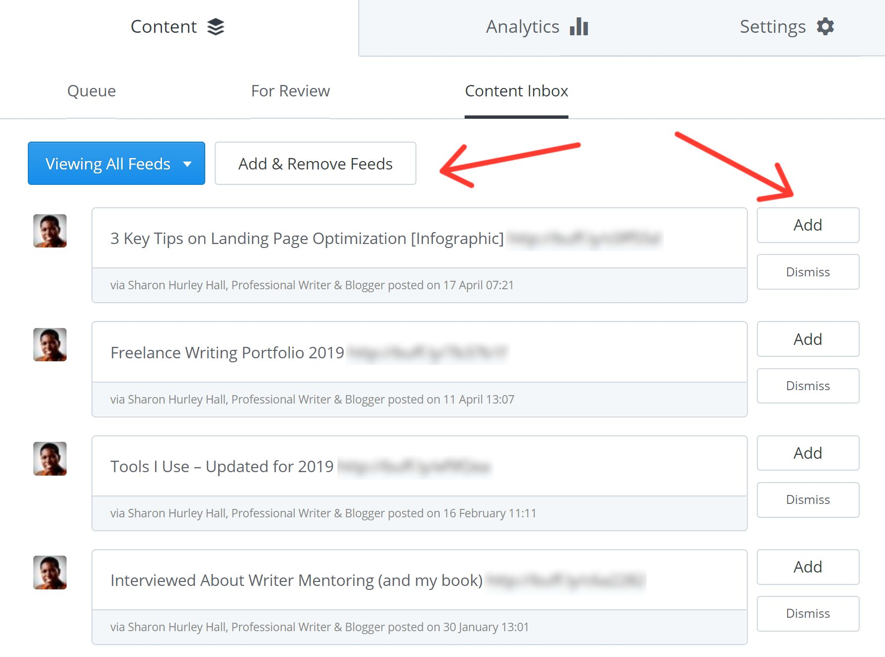 Hootsuite vs. Buffer - How to import content from RSS feeds on Buffer