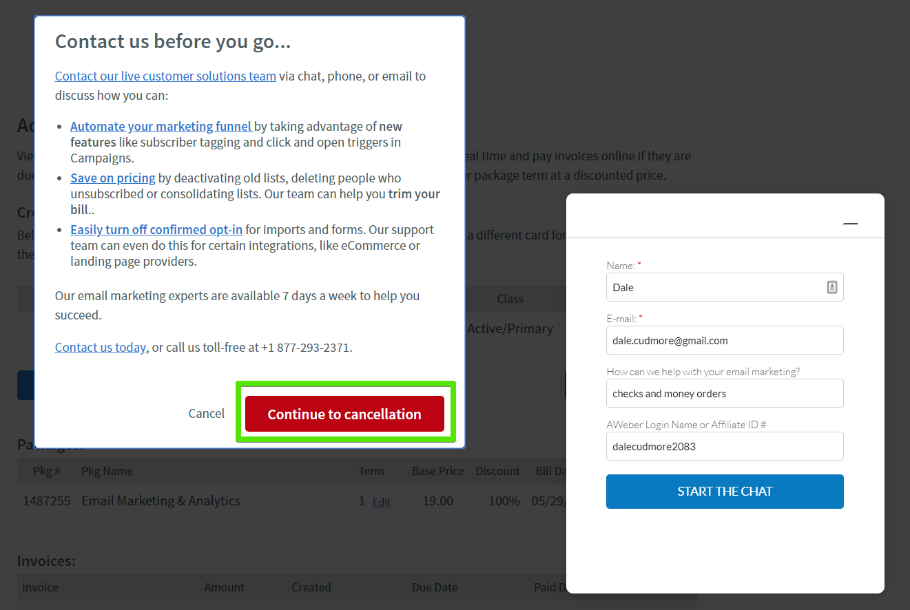 How to Cancel Your AWeber Account [+ GET REFUNDED]-image3