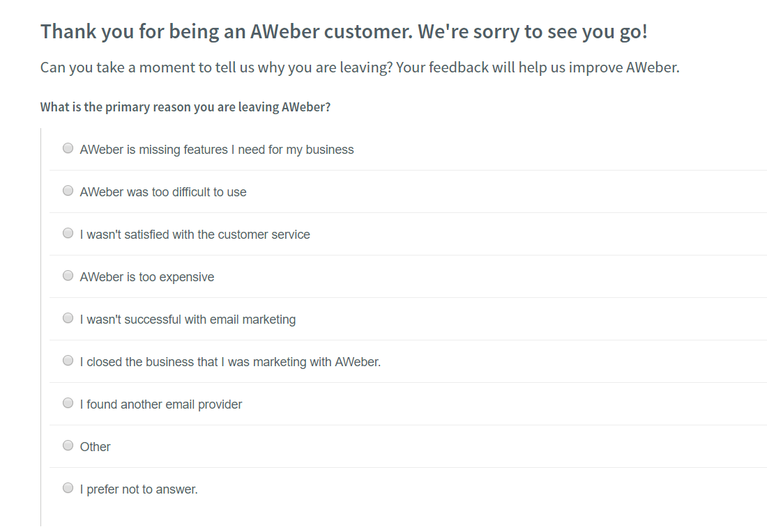 How to Cancel Your AWeber Account [+ GET REFUNDED]-image4