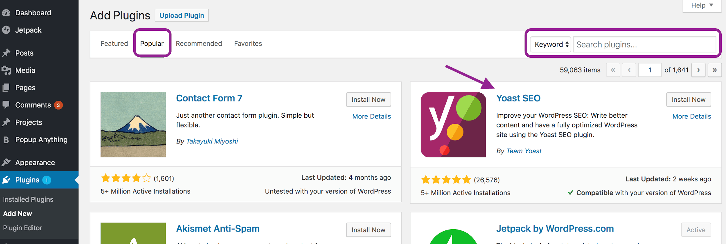 Yoast screenshot