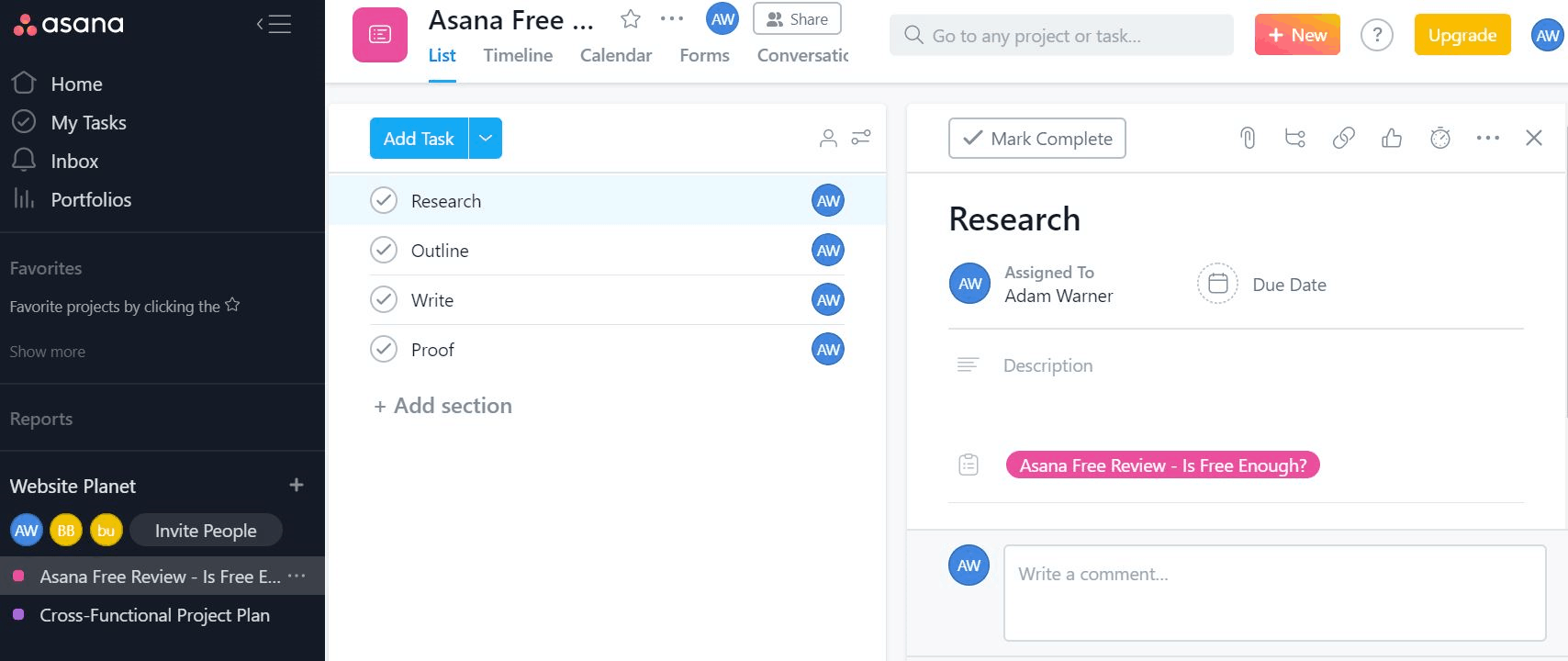 Asana Review - Can You Get By with the Free Version-image1