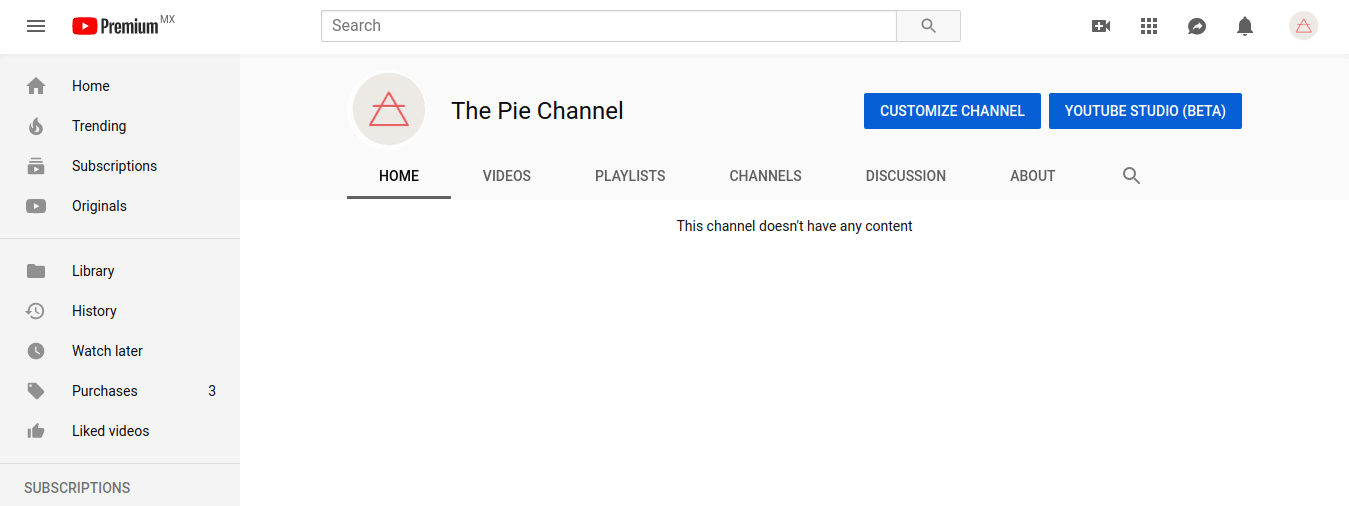 YouTube screenshot - Channel with new logo