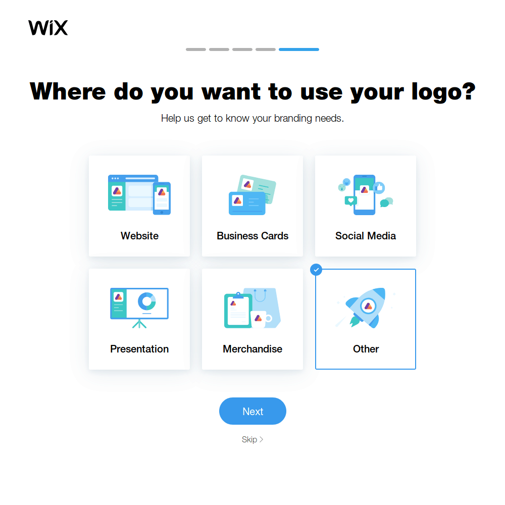 Wix Logo Maker screenshot - Logo usages