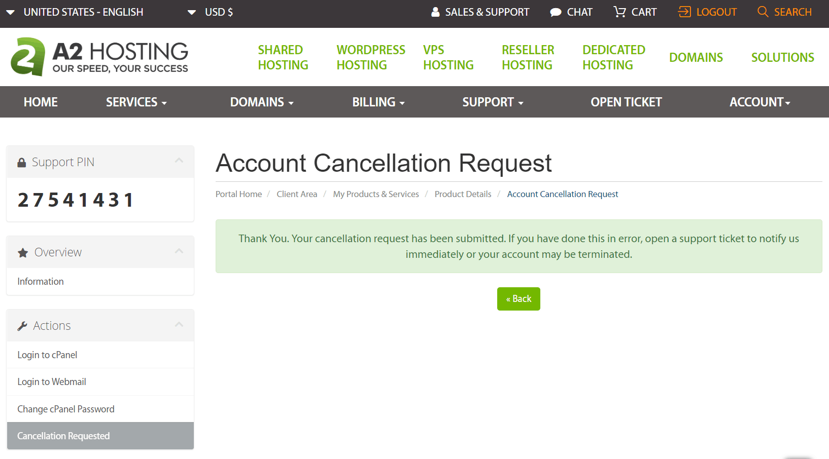 How to Cancel Your A2 Hosting Account and Get a Refund-image5