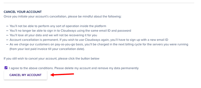 How to Cancel Your Account with Cloudways and Get a Refund-image2