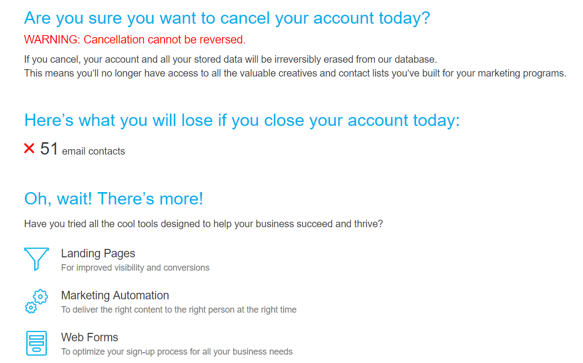 How to Cancel a GetResponse Account -image3