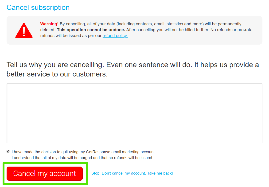 How to Cancel a GetResponse Account -image5