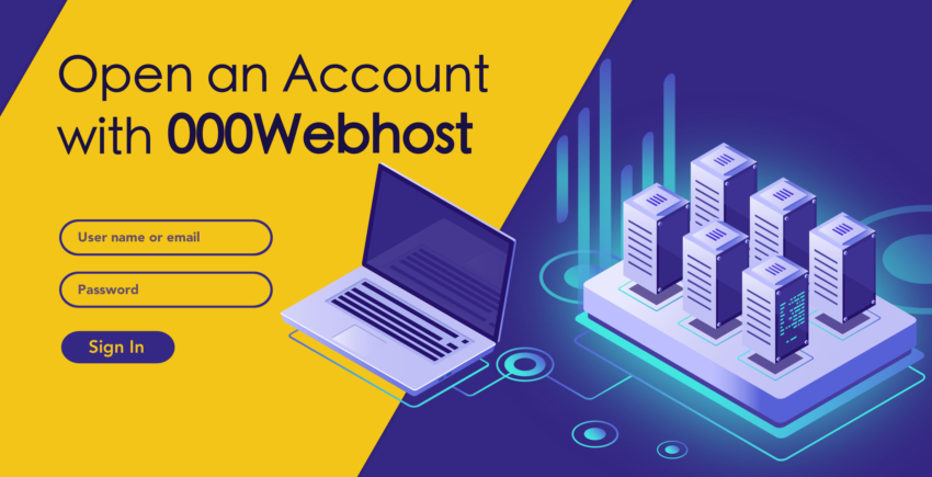How to Create a New Account with 000webhost
