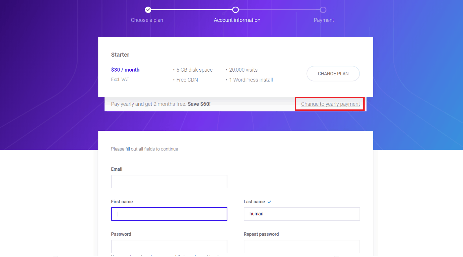 How to Create a New Account with Kinsta-image2