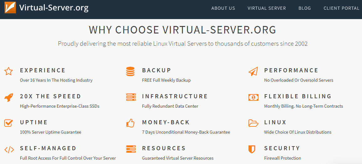 Virtual-Servers.org Features