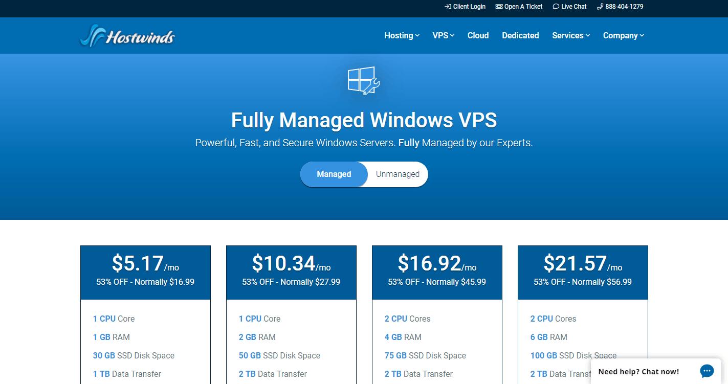 hostwinds_windows_vps
