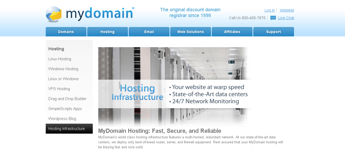 mydomain main