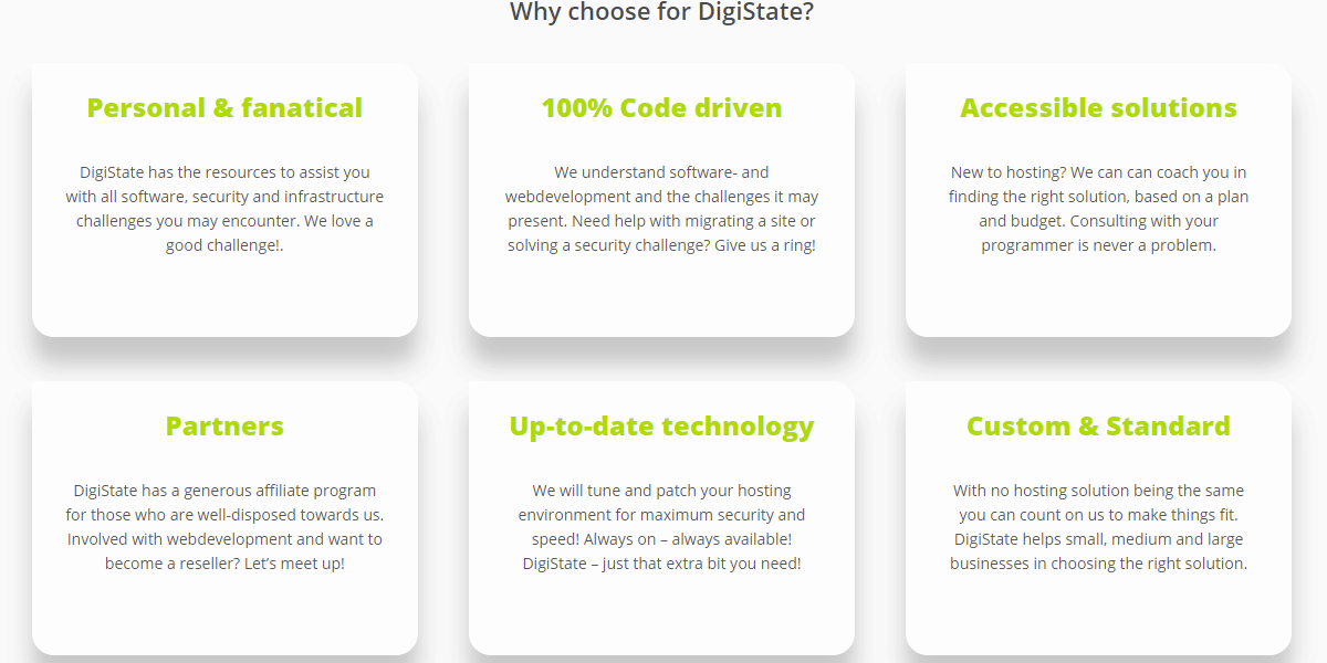 DigiState the accessible hosting provider