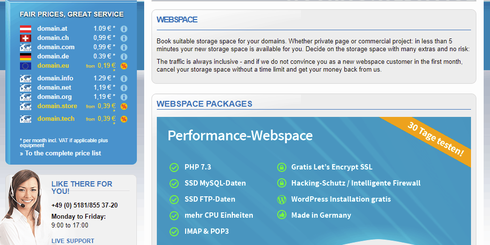 Hosting-Webspace-from-0-49-month