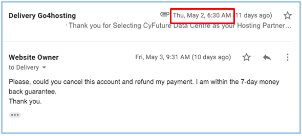 How to Cancel Your Account with Go4Hosting and Get a Refund-image2
